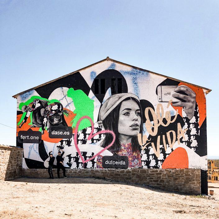 Fert Dase Mural Graffiti Street Art Penelles Lleida Dulceida Gargar Festival